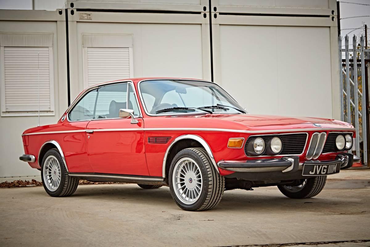 Vintage red BMW