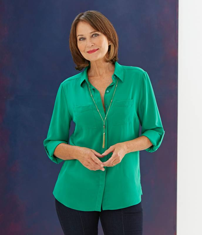 Jade green ladies shirt