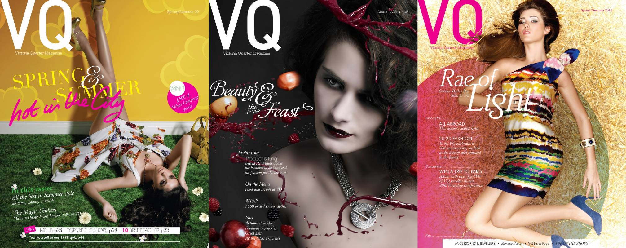 Victoria Quarter magazine cover shots with off shoulder dress and berry red lipstick