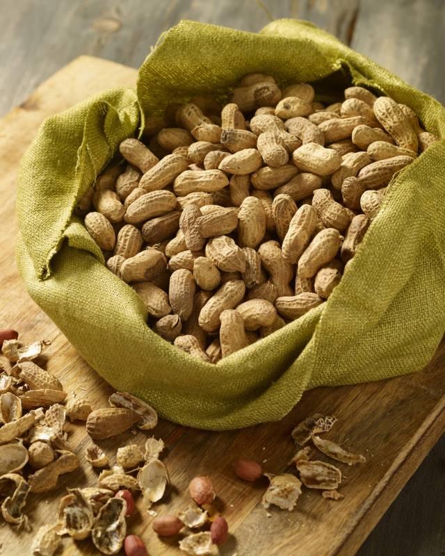 Monkey nuts in hessian sack