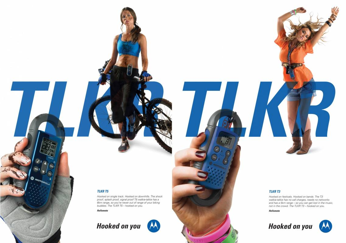 Motorola hooked on you walkie-talkie ad