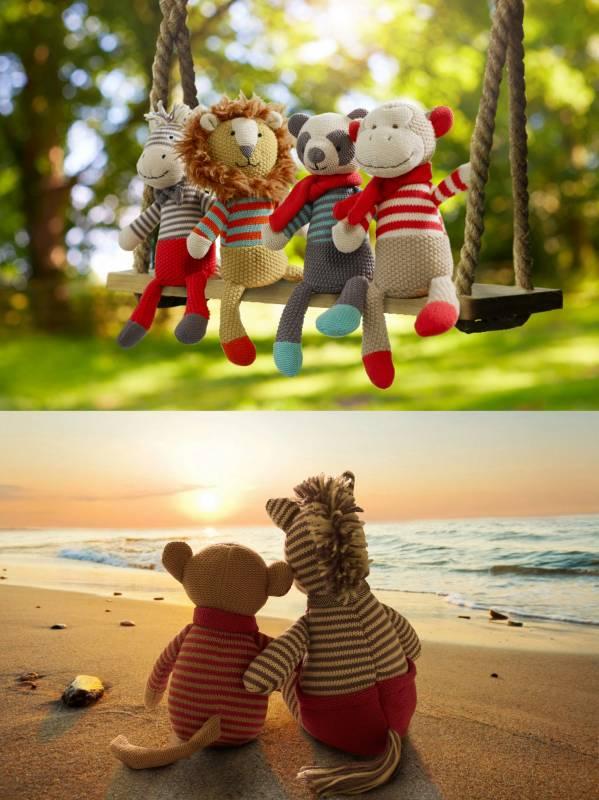 Walton & Co knitted zebra sunset and swing