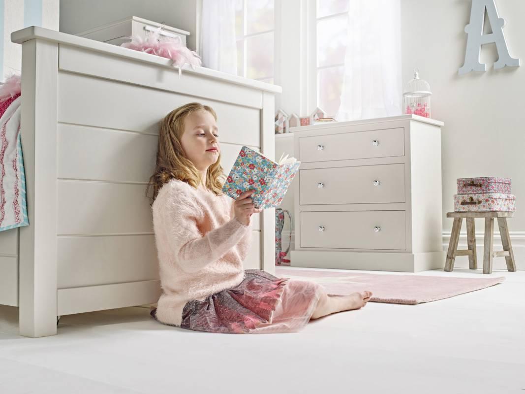 Girls bedroom interior with Cath Kidston design
