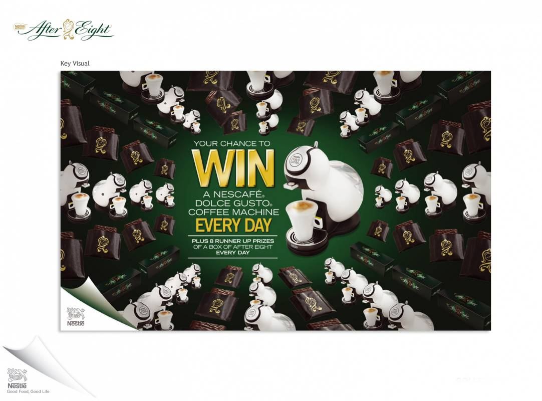 After eight advert with competition