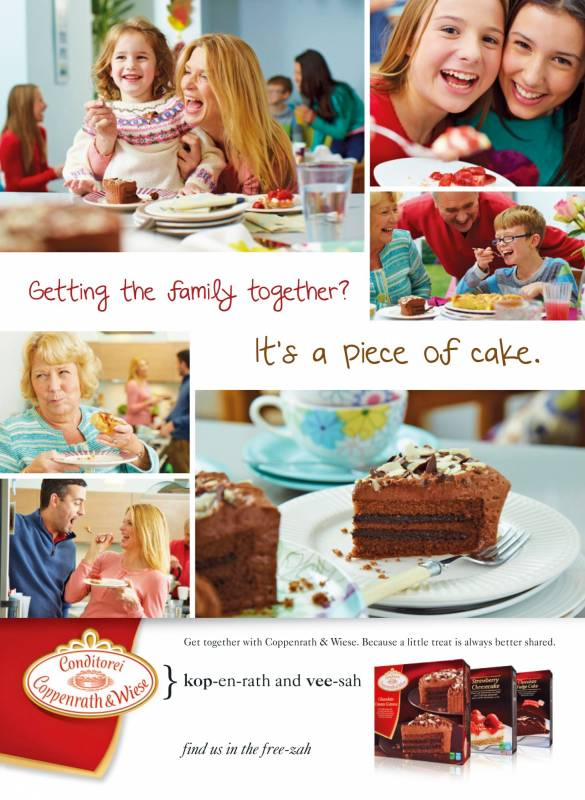 Coppenrath and Wiese chocolate cake campaign