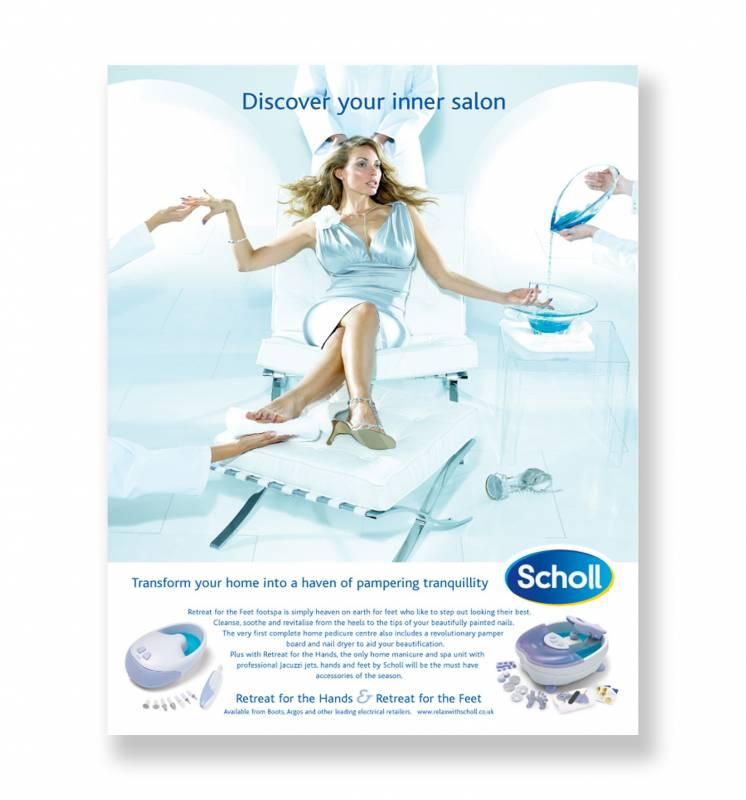 Scholl magazine advertisement high end model shoot