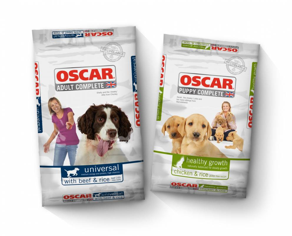 Oscar adult complete and puppy complete dog food