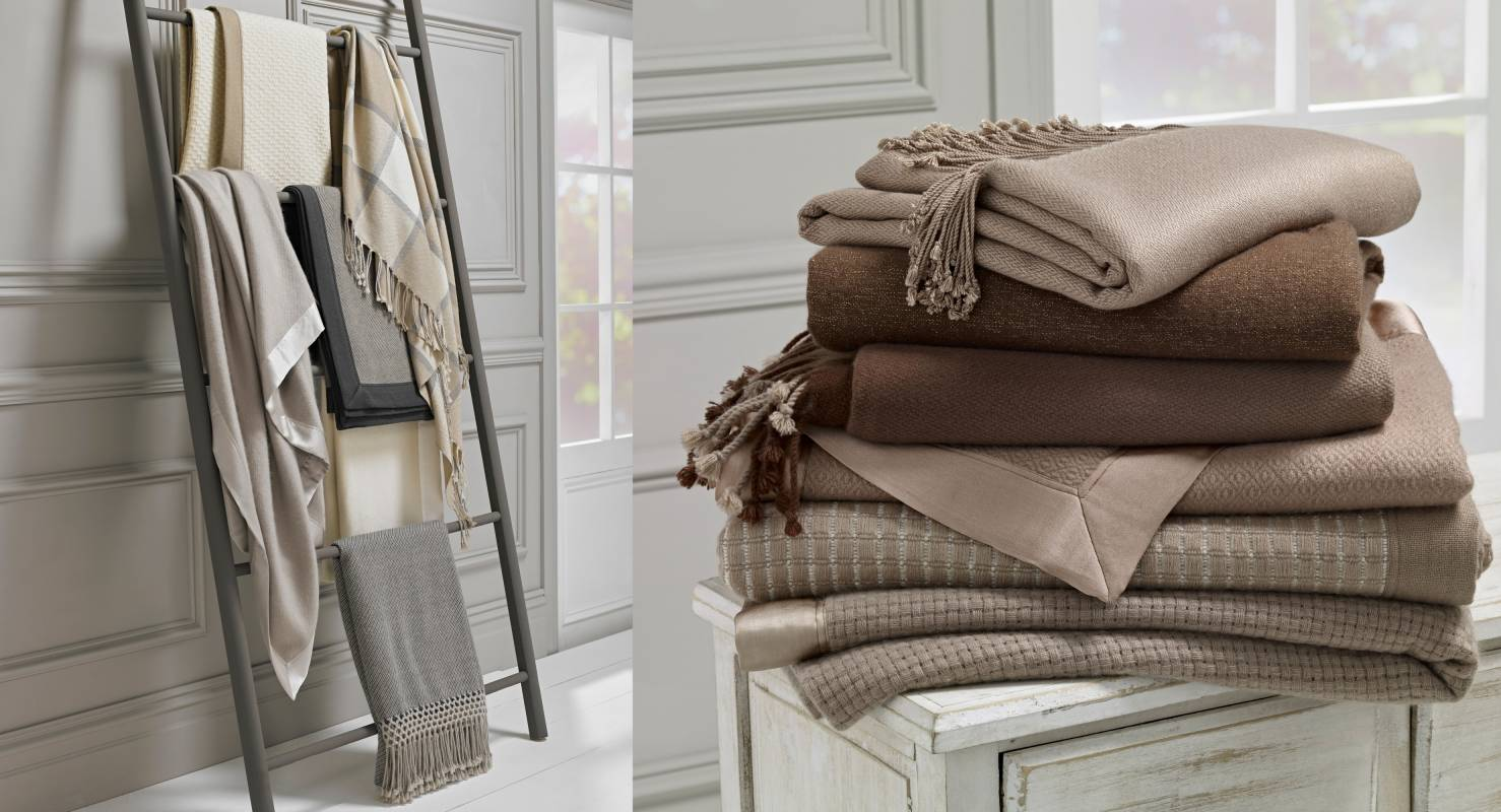 Gillian Weir wool cashmere scarves and pashminas with autumn colour scheme brown and beige
