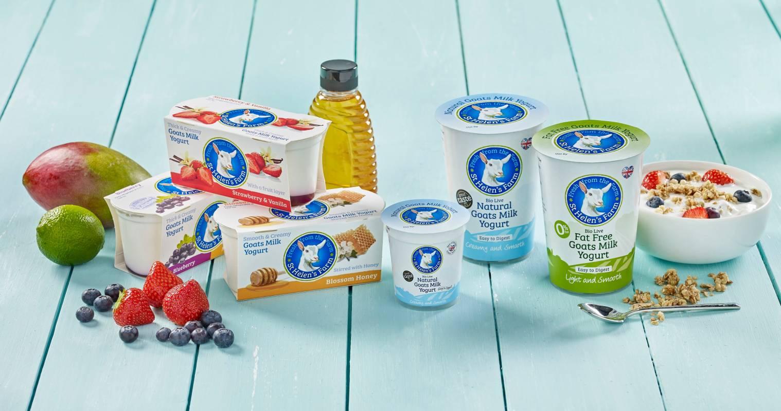 St Helen's Farm goats milk yogurt with fruit and honey