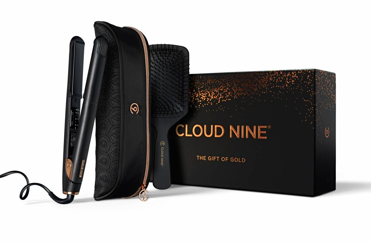 Cloud Nine hair straighteners with flat brush and protective case